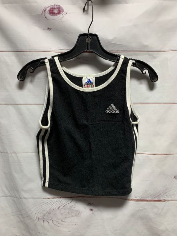 product details: CLASSIC VINTAGE 90S ADIDAS STRETCHY SPORTS CROPPED TOP MADE IN USA photo