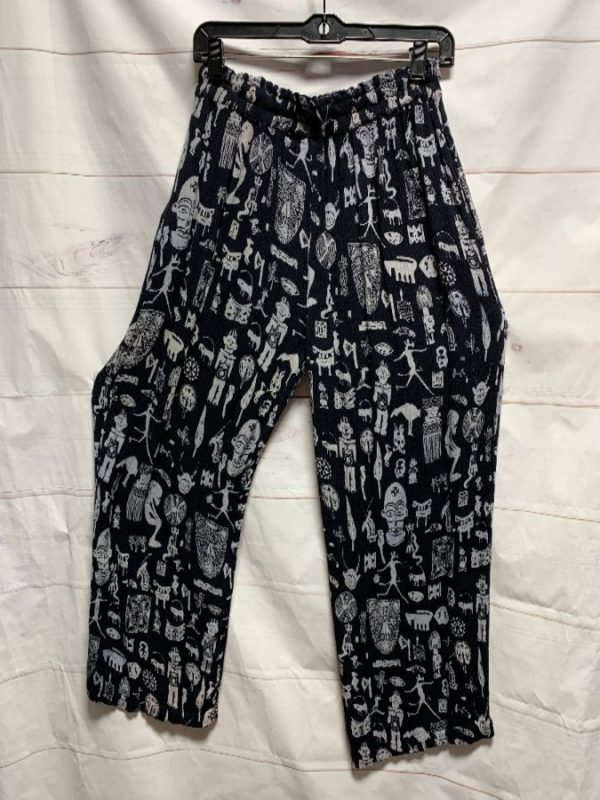 product details: TRIBAL PRINTED WIDE LEG SOFT PANT WITH ADJUSTABLE ELASTIC WAIST as-is photo