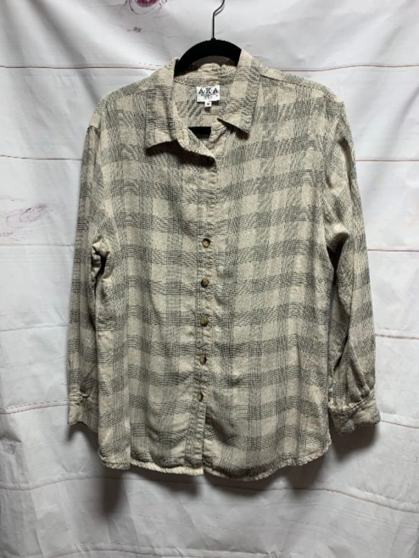 product details: AWESOME GRID PATTERN LINEN STYLE LS BD SHIRT AS-IS photo
