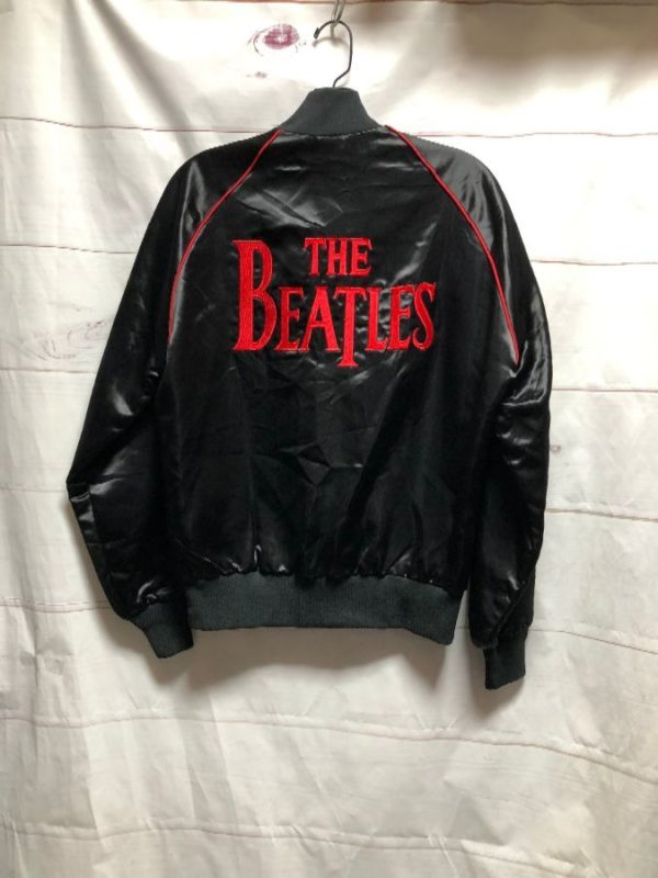 product details: BEATLES SATIN BUTTON JACKET WITH RED PIPING photo