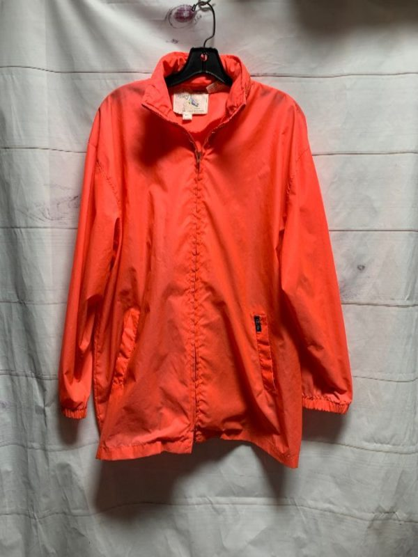 product details: DAYGLOW NEON ORANGE JACKET WINDBREAKER HOODIE photo