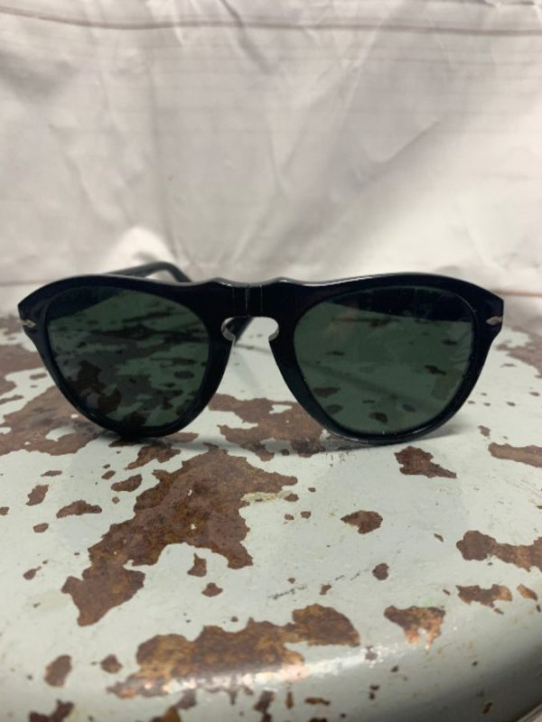 product details: BLACK ITALIAN PERSOL BRAND SUNGLASSES AS-IS photo