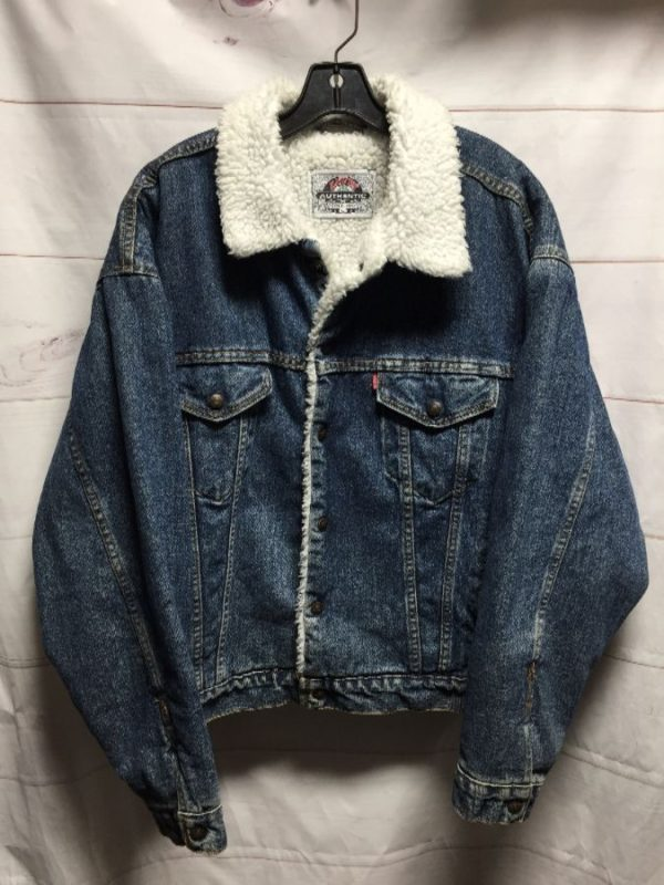 product details: CLASSIC LEVIS SHERPA DENIM JACKET photo