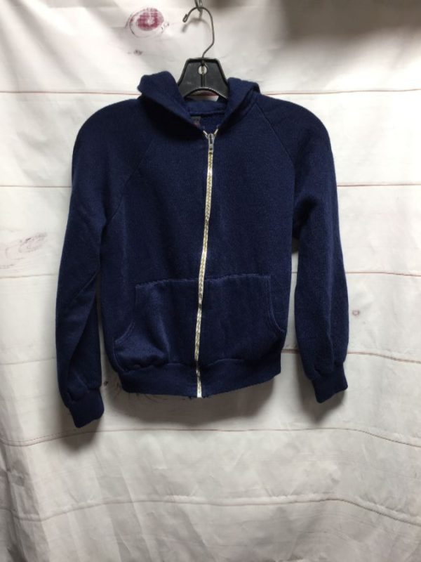 product details: LITTLE SOFTY SUPER RETRO ZIP UP HOODED SWEATSHIRT SMALL FIT photo