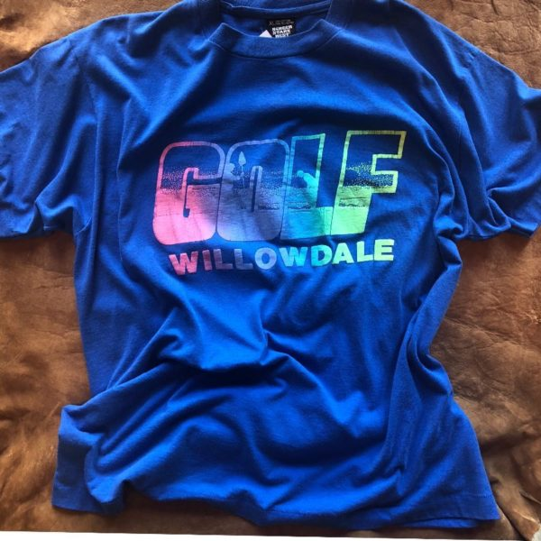 product details: VINTAGE GOLF WILLOWDALE NEON PUFF INK GRAPHIC T-SHIRT ODD FUTURE photo