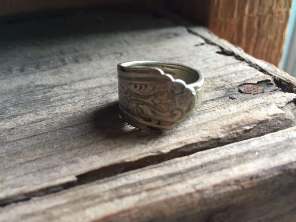 product details: HEART VINES VINTAGE BENT SPOON RING photo