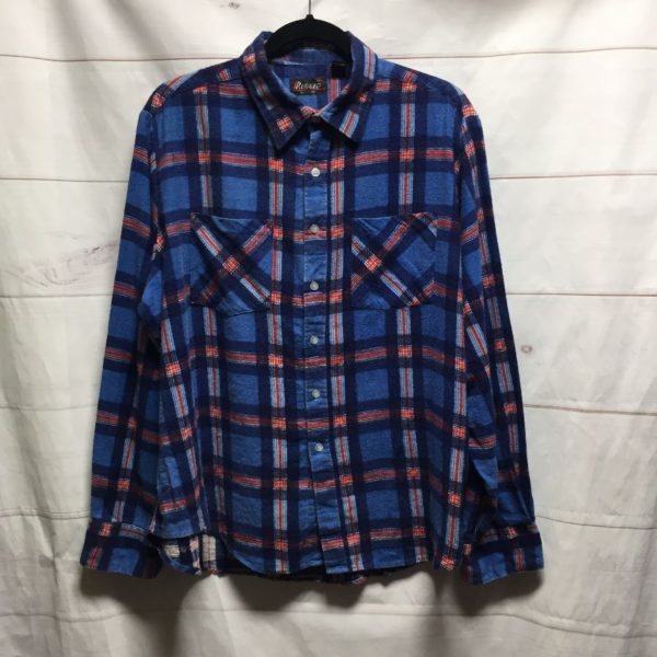 product details: LONG SLEEVE BUTTON UP FLANNEL SHIRT 100% COTTON photo