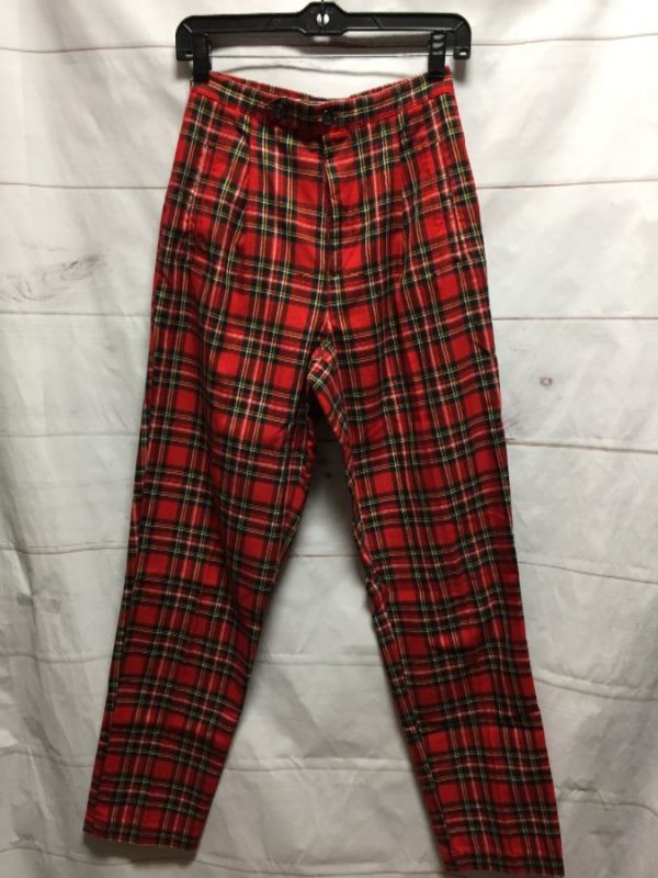 product details: CLASSIC HIGH WAIST PLAID TROUSER PANTS photo