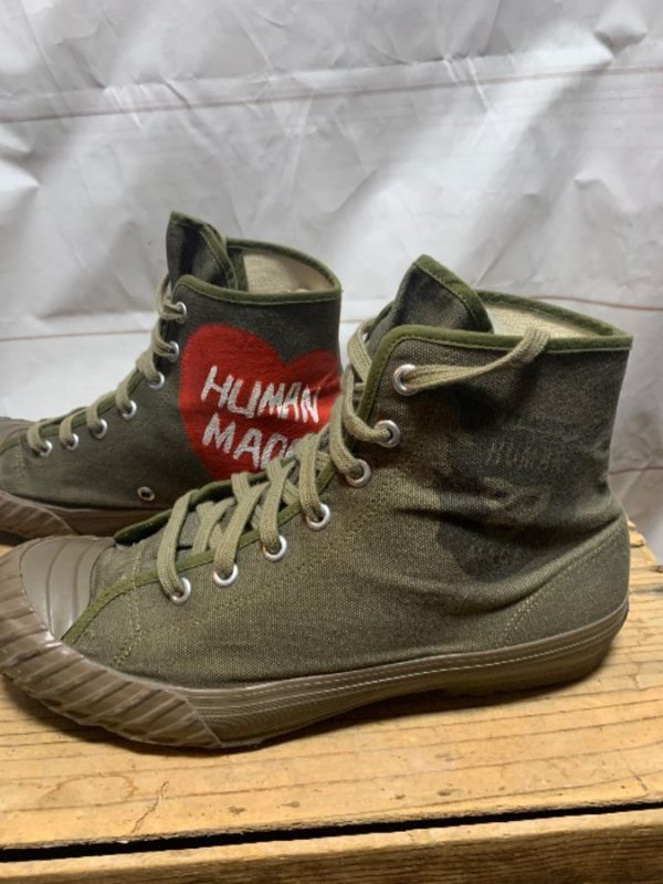 product details: HUMAN MADE ARMY GREEN MILITARY CANVAS WATER SHOES photo