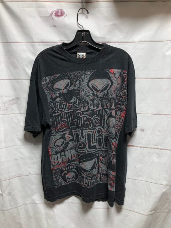 product details: BLIND BODYBAGS ALL OVER FRONT GRAFFITI GRAPHIC TSHIRT photo