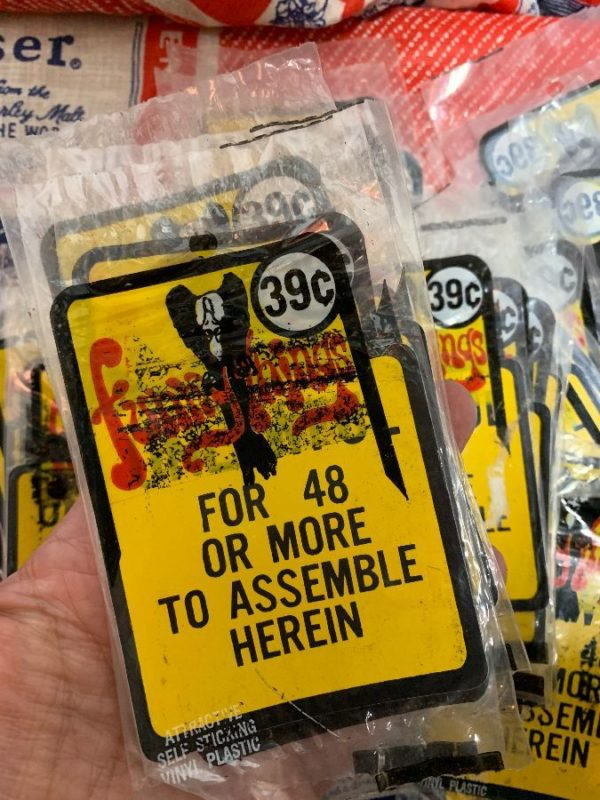 product details: VINTAGE UNLAWFUL FOR 48 OR MORE TO ASSEMBLE HEREIN VINTAGE NOS STICKER NEW IN PACKAGE AS-IS photo