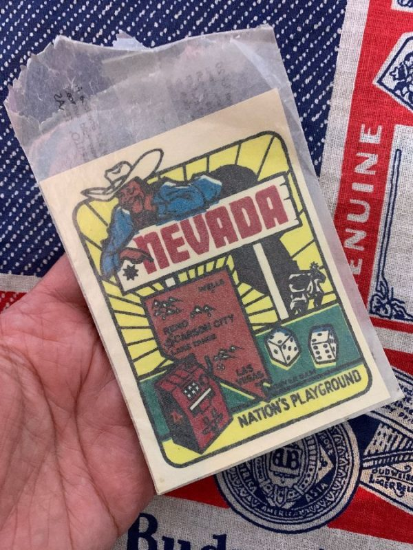 product details: VINTAGE NEVADA NATION\\S PLAYGROUND DECAL STICKER IN ORIGINAL WAX PAPER PACKAGE AS-IS photo