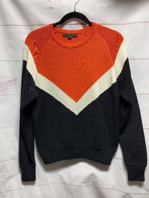 product details: KNIT PULL OVER SWEATER V STRIPE photo