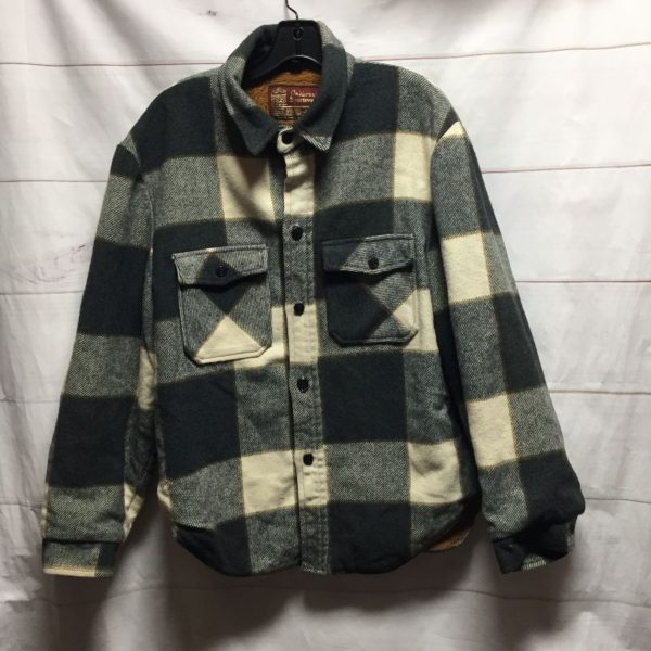 product details: 1970S HEAVY FULLY LINED FLANNEL BUTTON DOWN JACKET photo