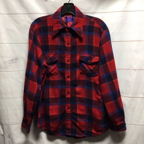product details: RETRO LONG SLEEVE WOOL BLEND FLANNEL SMALL FIT photo