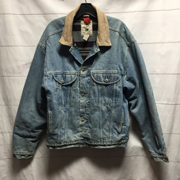 product details: VINTAGE BANANA REPUBLIC BLANKET LINED DENIM JACKET photo