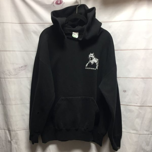 product details: CALIFORNIA RUDE DOGS HOODED SWEATSHIRT -AS IS photo