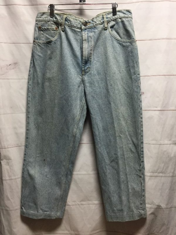 product details: LEVIS 550 CLASSIC DENIM JEANS CROPPED HEM - AS IS photo