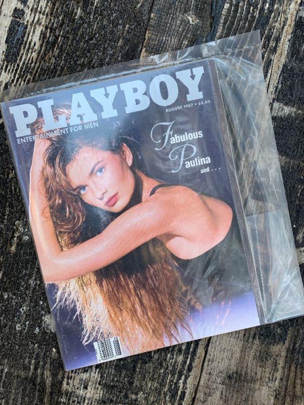 product details: PLAYBOY MAGAZINE AUGUST 1987 - FABULOUS PAULINA photo