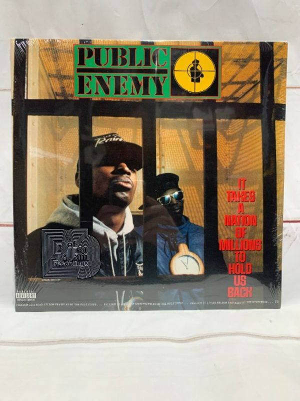 product details: BW VINYL PUBLIC ENEMY - IT TAKES A NATION OF MILLIONS TO HOLD US BACK photo