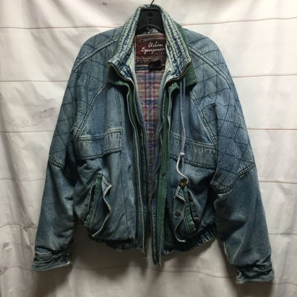 product details: RAD 1980-90S QUILTED DENIM JACKET W SOFT INNER FLANNEL BLANKET LINING AS-IS photo