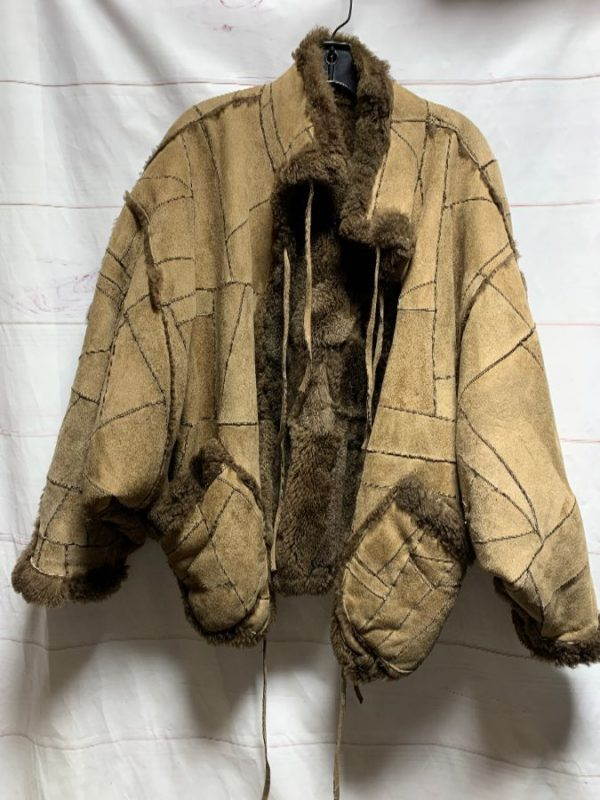 product details: AMAZING SUEDE & PATCHWORK SHEARLING JACKET AS-IS photo