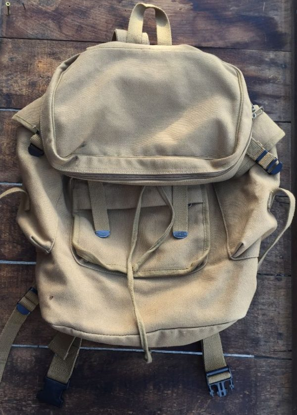 product details: MULTI UNIT CANVAS HIKER/TRAVEL BACKPACK  WITH WAIST SNAP photo