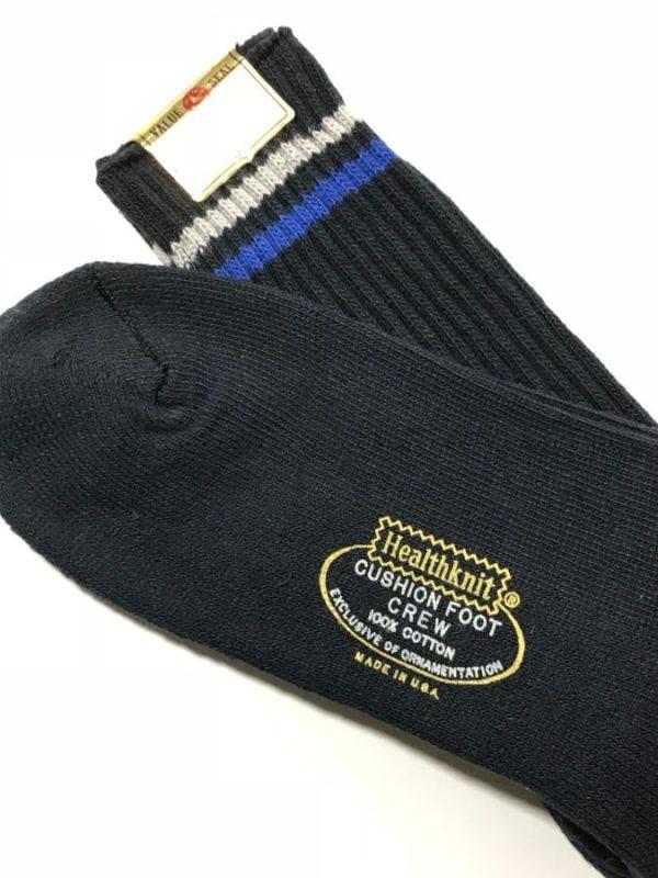 product details: VINTAGE DEADSTOCK SOCKS - COTTON STRIPED SOCKS HEALTHKNIT photo
