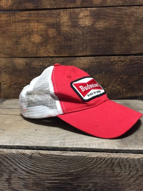 product details: VINTAGE BUDWEISER MESH HAT CURVED BILL AS-IS photo