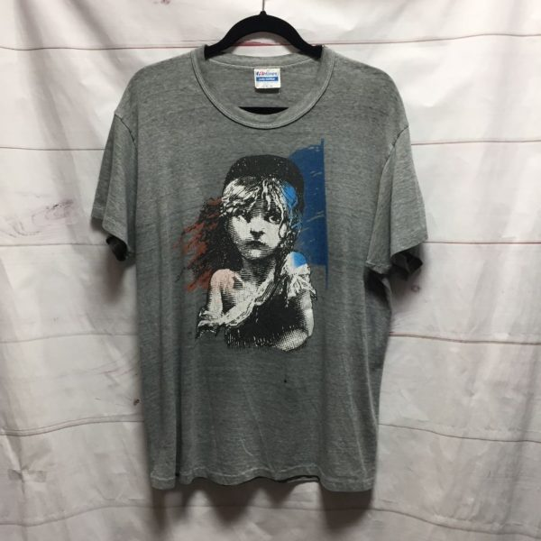 product details: LES MISERABLES SUPER THIN T SHIRT - PERFECTLY DISTRESSED *AS IS photo