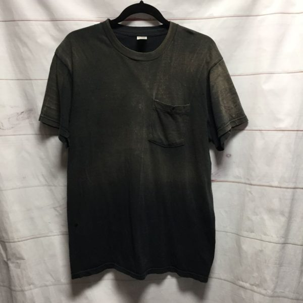 product details: NATURAL SUN DISCOLORATION CREWNECK FRONT POCKET TEE T SHIRT - AS IS photo
