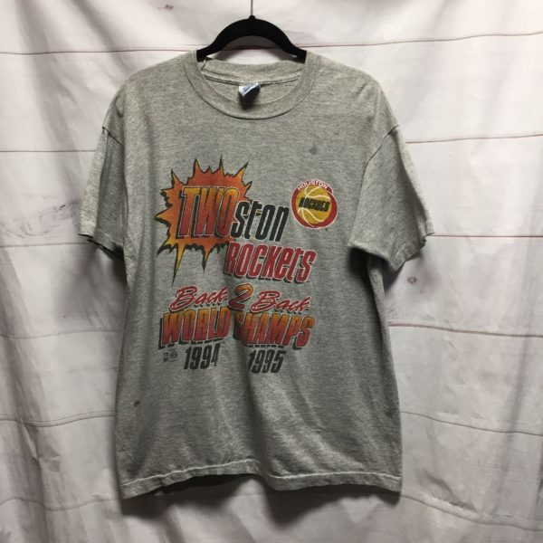 product details: HOUSTON ROCKETS WORLD CHAMPS NBA 94-95 T SHIRT - AS IS photo