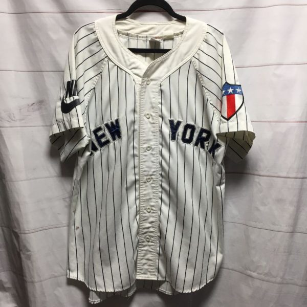product details: UNIQUE NEW YORK YANKEES #23 COTTON BASEBALL JERSEY MULTIPLE PATCHES AS-IS photo