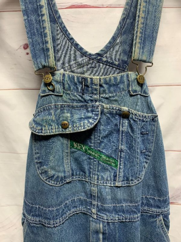 product details: DENIM OVERALLS SNAP BUTTON POCKET AS-IS photo