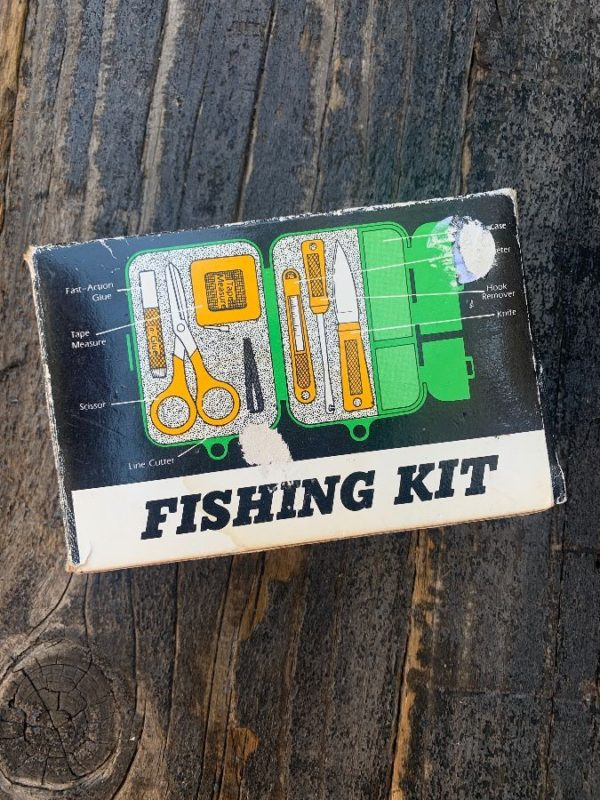 product details: VINTAGE FISHING KIT W/ ORIGINAL BOX AS-IS photo