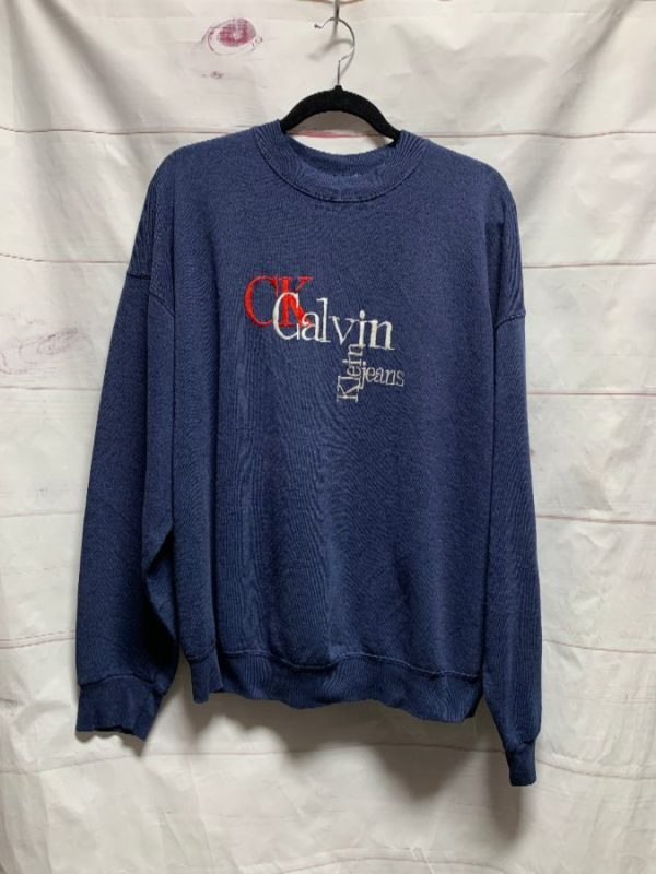 product details: CALVIN KLIEN EMBROIDERED PULLOVER SWEATSHIRT photo