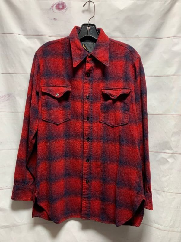 product details: WOOL FLANNEL PENDLETON SHIRT AS-IS * DISTRESSED photo