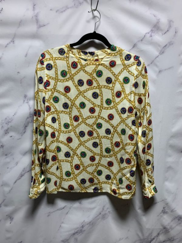product details: CHAIN PRINT LONG SLEEVE BLOUSE photo