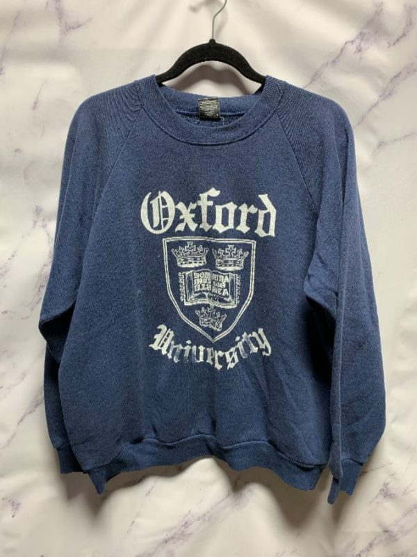 product details: PULLOVER CREWNECK SWEATSHIRT OXFORD UNIVERSITY AS-IS photo