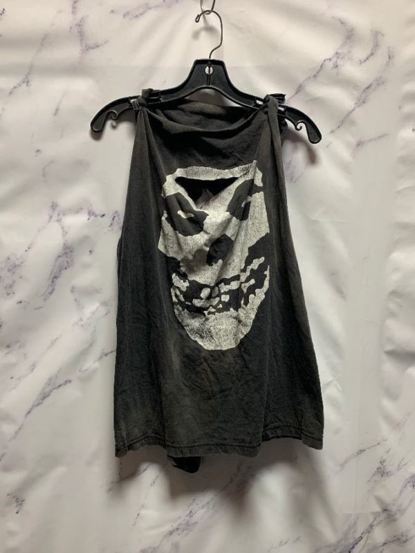product details: CUSTOMIZED & DISTRESSED MISFITS CUT OFF TANK TOP SHIRT photo