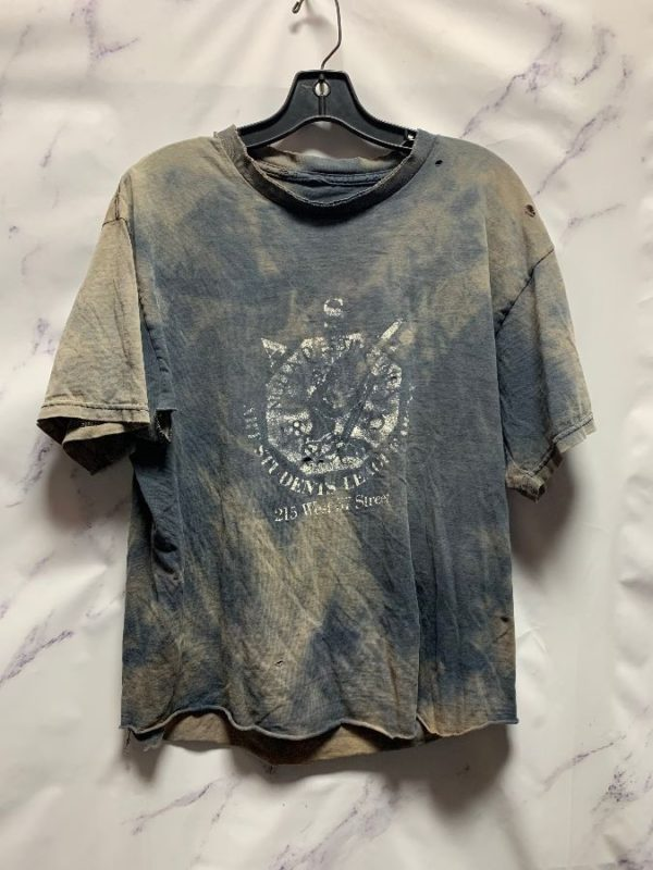 product details: RAD FULLY DISTRESSED & MARBLE BLEACHED ASL TSHIRT - ART STUDENTS LEAGUE OF NY photo