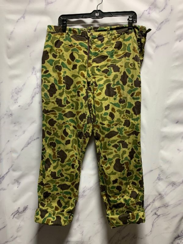 product details: DUCK CAMO COTTON MILITARY TROUSERS PANTS photo