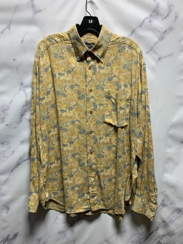 product details: SUPER COOL CHRISTIAN DIOR FLORAL PRINTED RIBBED COTTON SHIRT photo