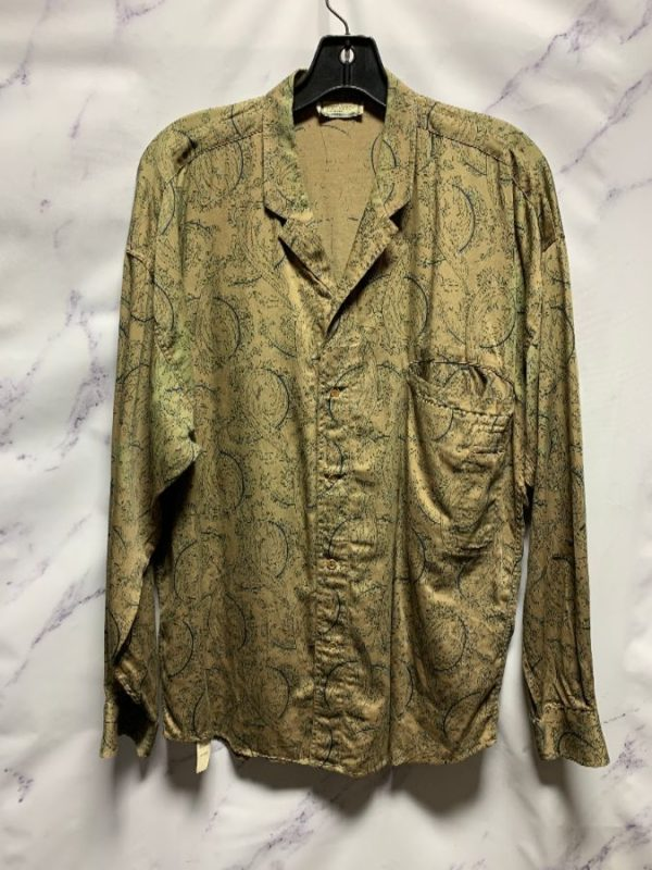 product details: COMBED COTTON INTERESTING PAISLEY PRINTED VERSACE SHIRT AS-IS photo