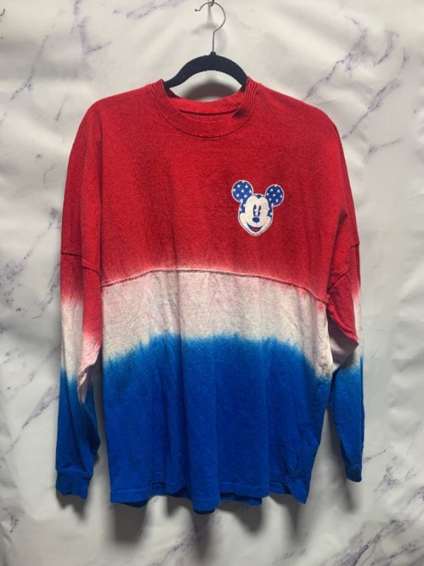 product details: LONG SLEEVE MICKEY MOUSE TIEDYE CREWNECK SHIRT photo