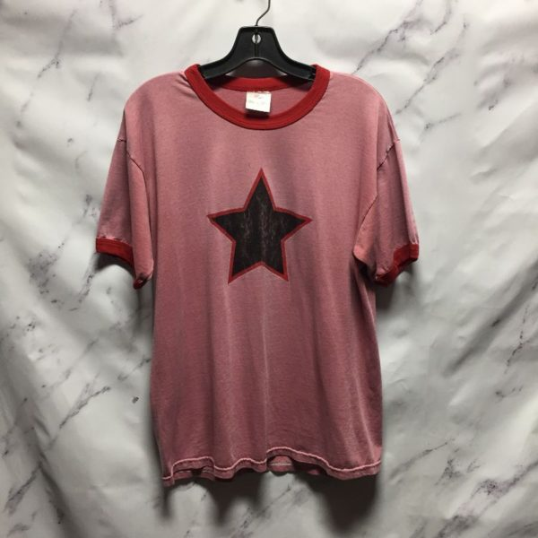product details: RETRO SOLID STAR GRAPHIC RINGER TEE  - AS IS photo