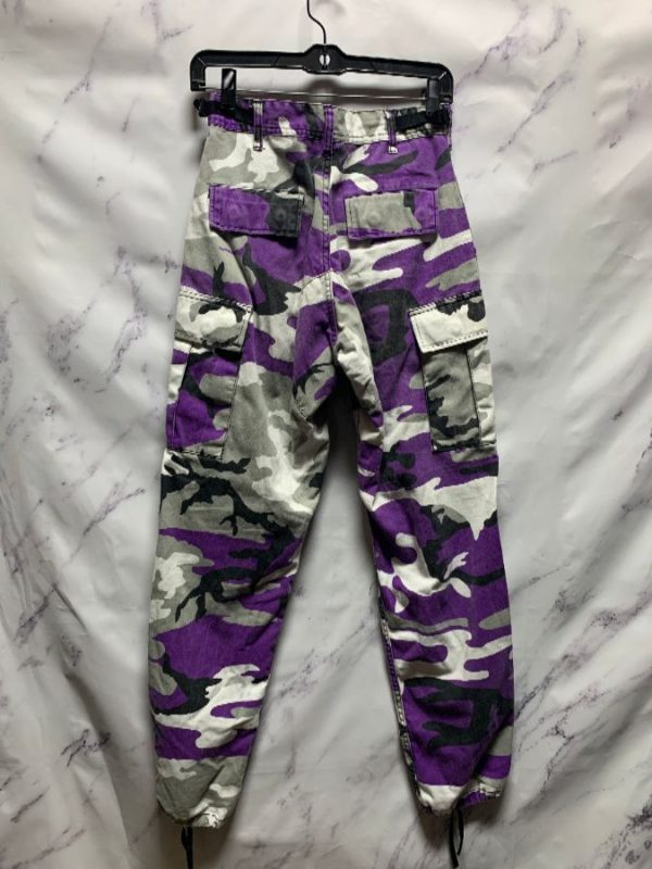 product details: PURPLE SNOW CAMO PANTS SMALL FIT photo