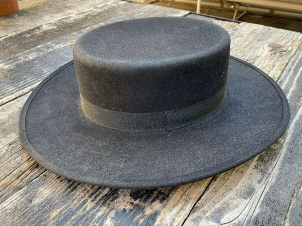 product details: WOOL STRUCTURED BRIMMED HAT WITH RIBBON TIE photo