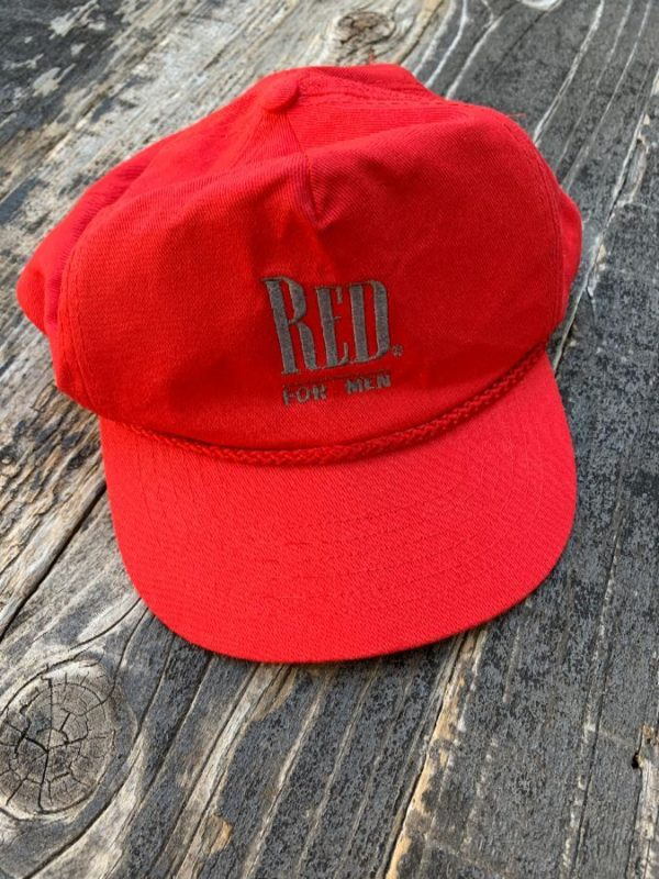 product details: COOL EMBROIDERED -RED FOR MEN- BY GIORGIO BEVERLY HILLS SNAPBACK HAT photo