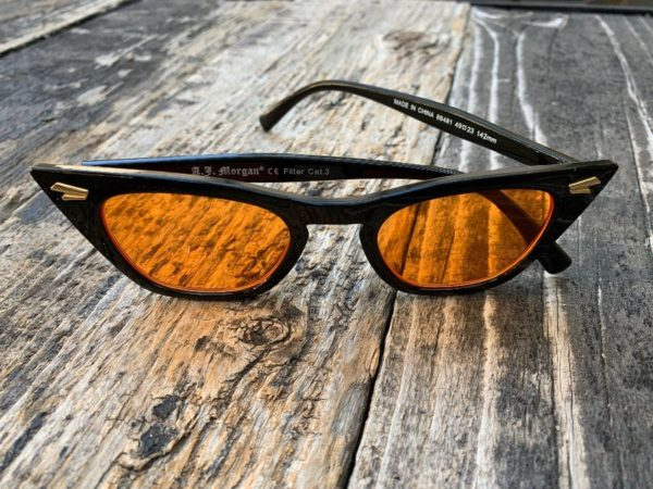 product details: ORANGE LENS EXAGGERATE CATEYE SUNGLASSES photo